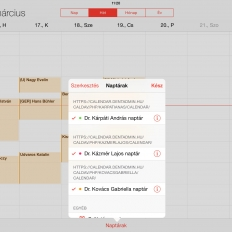 Berendelési napló Apple IOS-en több orvos esetén