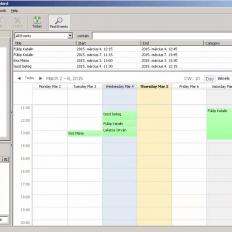 Berendelési napló Mozilla Sunbird alkalmazásban